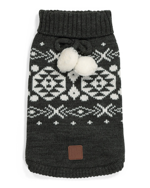 Fairisle Dog Sweater