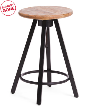James Adjustable Bar And Counter Stool