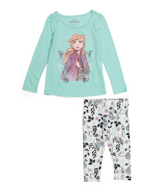 Little Girls 2pc Frozen 2 Legging Set