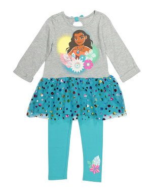 Little Girls Moana Legging Set