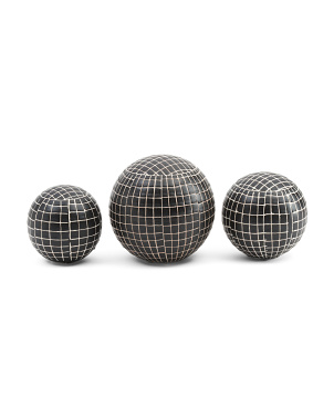 Set Of 3 Ceramic Orbs