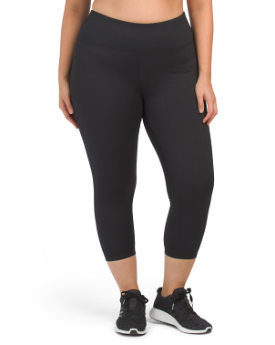 Plus One Side Peach High Rise Basic Capris