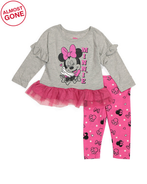 Infant Girls 2pc Minnie Legging Set