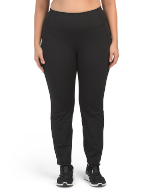 Plus Lux High Rise Straight Leg Active Pants