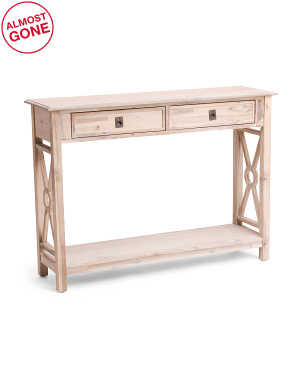 2 Drawer Console Table
