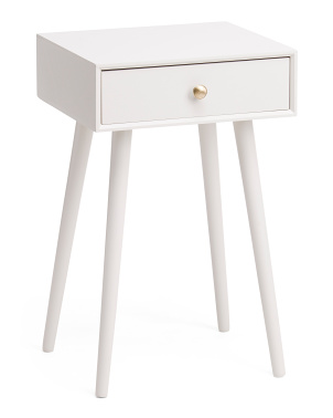 1 Drawer Side Table With Usb And Plug