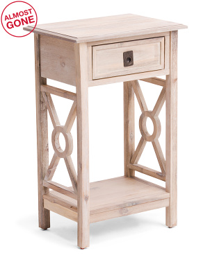 1 Drawer Cutout Side Table