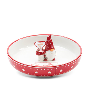 Gnome Serve Bowl With Toothpick Holder