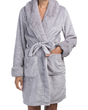 Seal Skin Plush Robe