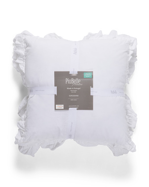 Made In Portugal 2pk Double Ruffle Euro Pillow