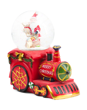 7in Train Merry Christmas Snow Globe