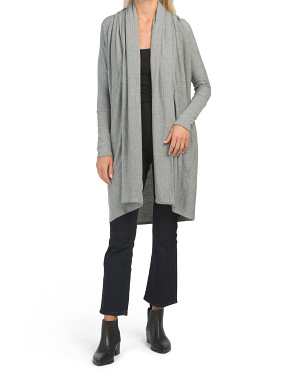 Cozy Knit Raglan Duster Cardigan