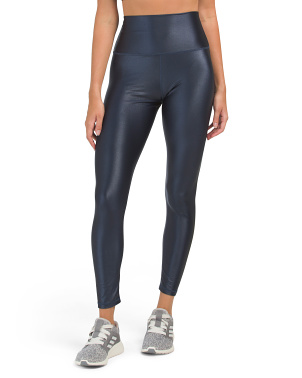 High Waist Signature Shine Ankle Leggings
