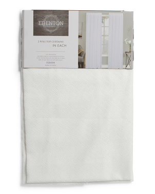 38x84 Set Of 2 Osborn Crinkle Room Darkening Curtains