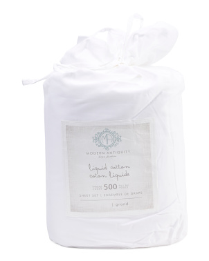 500tc Liquid Cotton Sheet Set