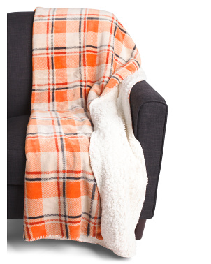 Madre Plaid Sherpa Throw