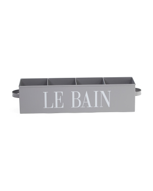 Rectangular Metal 4 Part Storage Caddy