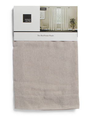 38x84 Set Of 2 Belgian Linen Look Curtains