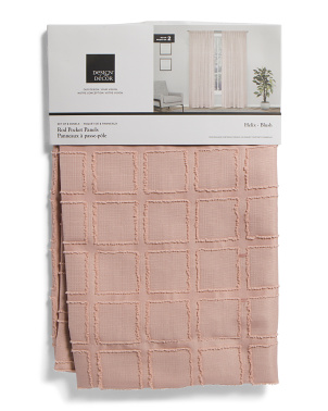 38x84 Set Of 2 Helix Textured Sheer Curtains