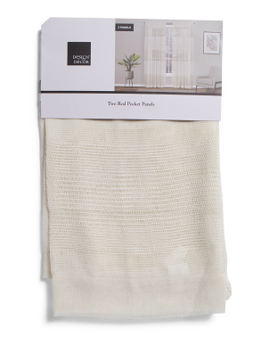 38x84 Set Of 2 Macrame Linen Look Curtains