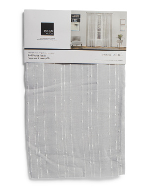38x96 Set Of 2 Muskoka Linen Look Curtains