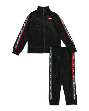 Infant Boys Tricot Jacket And Joggers Set
