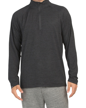 Long Sleeve Intent Quarter Zip Pullover Top