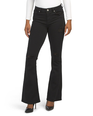 Juniors High Rise Flare Jeans