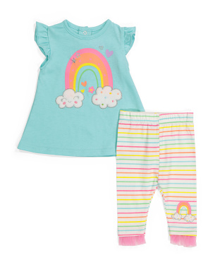 Newborn Girls Tunic Legging Set