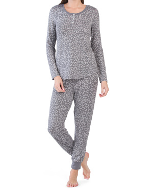 2pc Stars Henley & Joggers Pj Set
