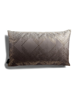12x20 Printed Metallic Velvet Pillow