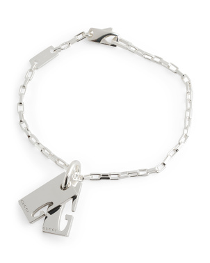 Made In Italy Sterling Silver G Charm Bracelet