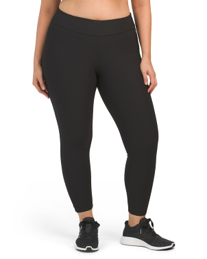 Plus Thick Waistband Ankle Leggings