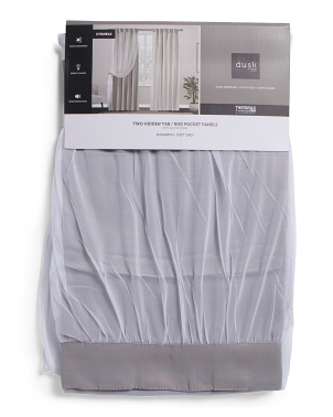 38x84 Set Of 2 Elizabeth Thermal Room Darkening Curtains