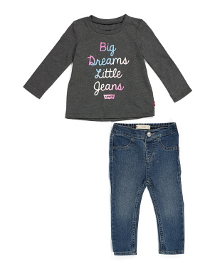 Toddler Girl 2pc Denim Set