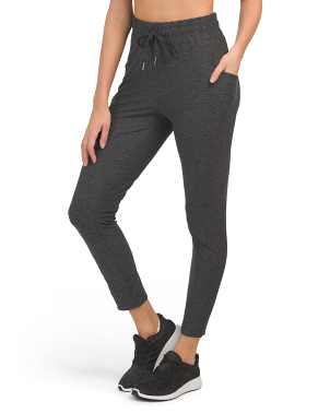 Ladies Moss Jersey Joggers With Side Pockets And Drawstring