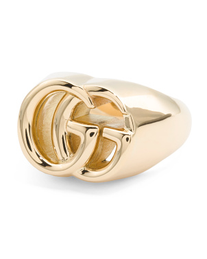 Men's Made In Italy 18k Gold Running G 19mm Ring