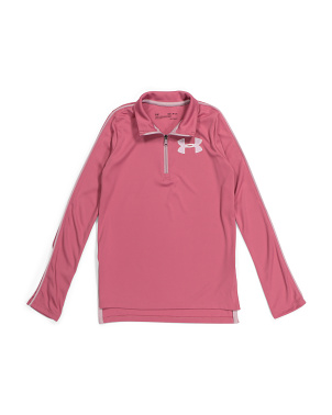 Girls Tech Quarter Zip Top