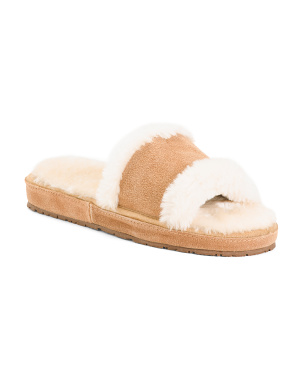 Suede Open Toe Slides