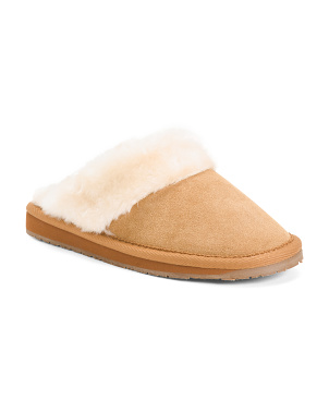 Faux Fur Suede Slippers