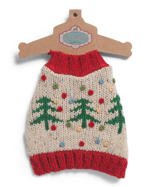 Trees With Dots Knit Pet Sweater