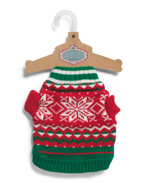 Nordic Snowflake Pet Sweater