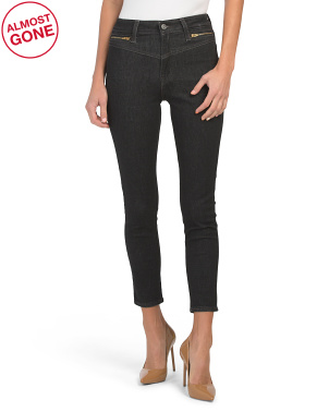 Juniors 721 High Rise Zip Front Ankle Piece Of Cake Jeans