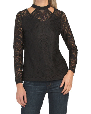 Reese Stretch Lace Cold Shoulder Top