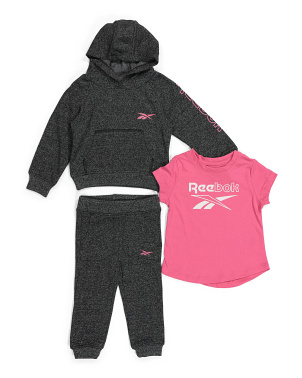 Infant Girls 3pc Fleece Hoodie Set