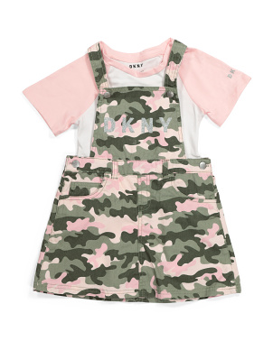 Big Girls Camo Skirtall Tee Set