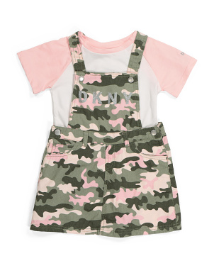 Little Girls Camo Skirtall And Tee Set