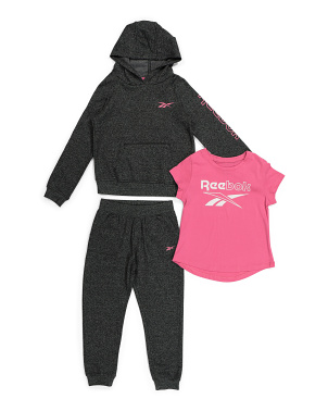 Little Girls 3pc Fleece Hoodie Set