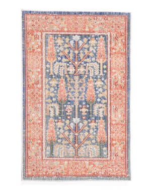 Made In Turkey Tree Of Life Flat Weave Scatter Rug