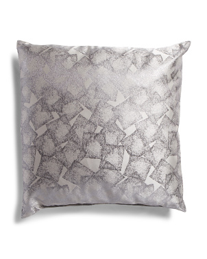 Made In Usa 22x22 Amazing Geo Metallic Pillow